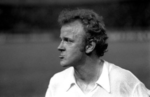 28/5/1975 European Cup Final. Bayern Munich v Leeds United. A dejected Billy Bremner protrudes his lower lip as Leeds lose to Munich. Photo: Gerry Cranham / Offside.